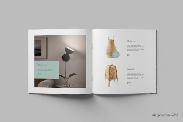Kwadratowa Broszura I Makieta Katalogu Premium Psd