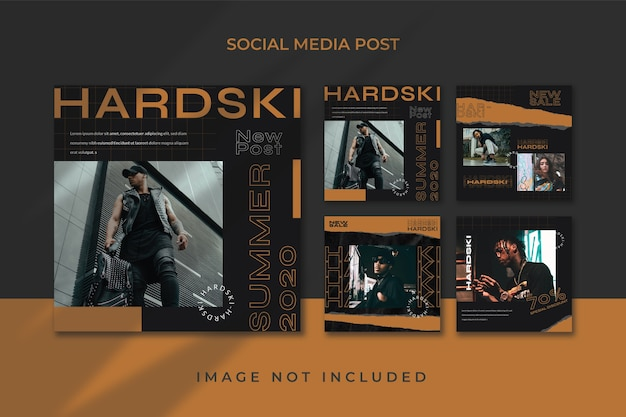 Kwadratowa Ulotka Social Media Feed Plakat Szablon Instagram Urban Style Premium Psd