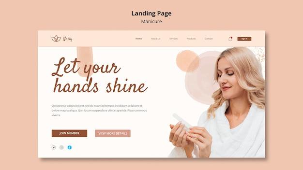 Landing Page Dla Salonu Paznokci Darmowe Psd