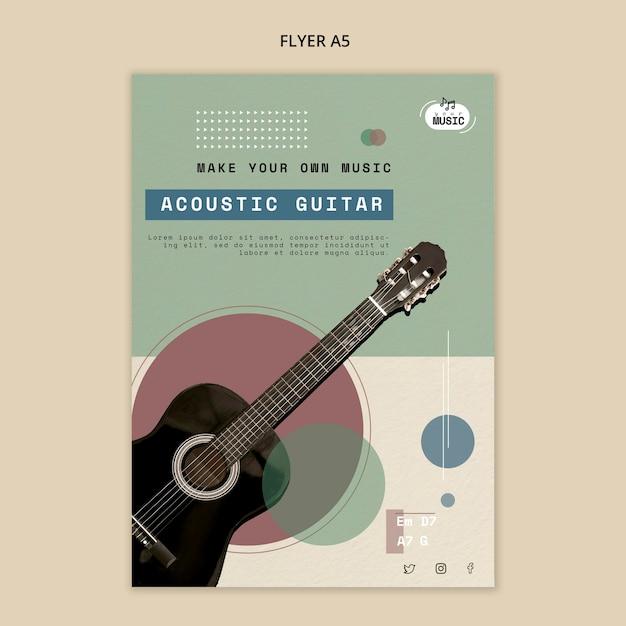 Lekcje Gry Na Gitarze Akustycznej W Stylu Ulotki Darmowe Psd