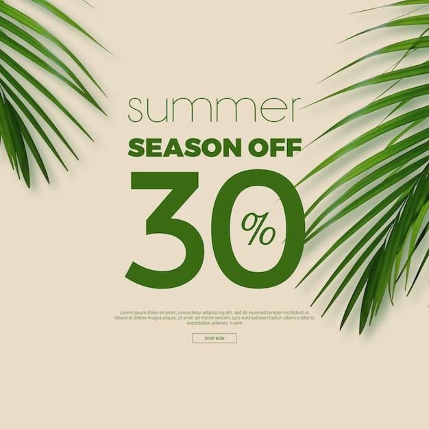 Letnia Wyprzedaż Rama I Tło Premium Psd