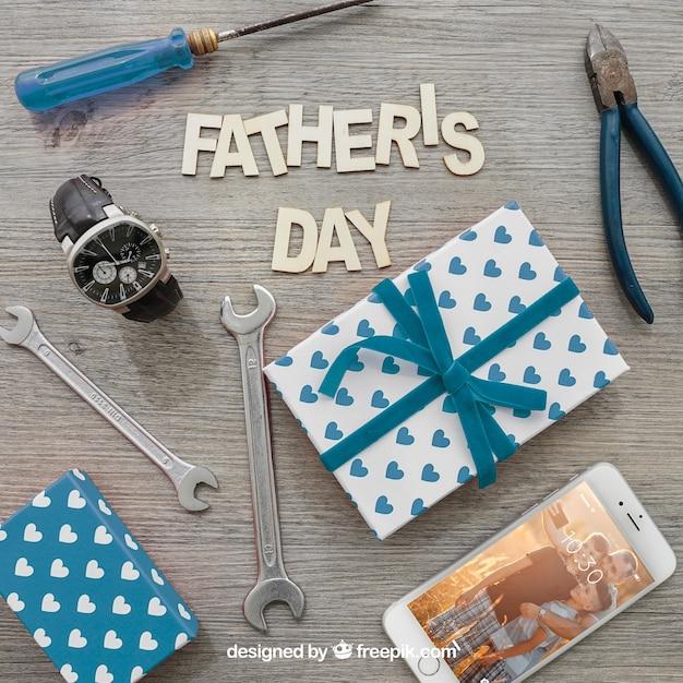 Litera Ojca, Pudełka Na Prezenty, Smartphone, Zegarek I Narzędzia Darmowe Psd