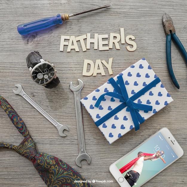 Litera Ojca, Smartphone, Pudełko I Narzędzia Darmowe Psd