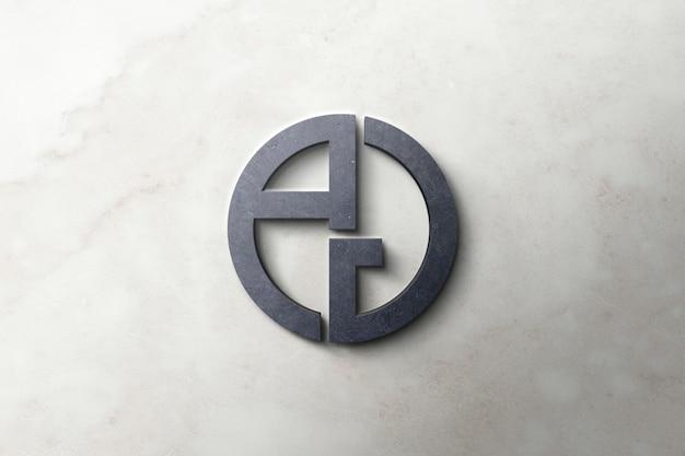 Logo Makieta Betonu 3d Premium Psd