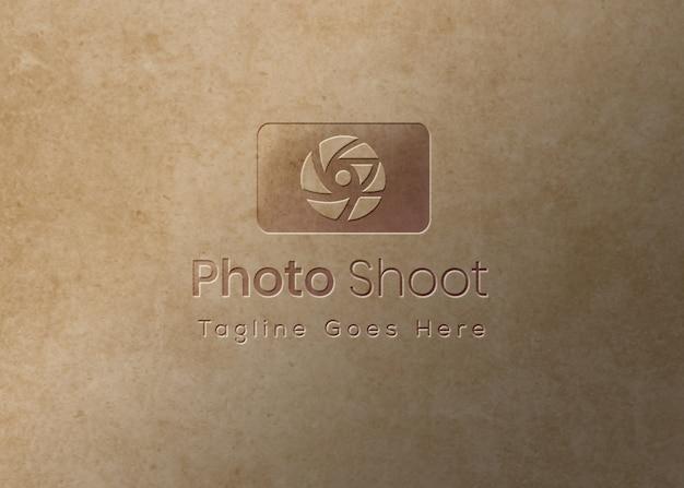 Logo Makieta Wytłoczony Efekt Tła Overtexture Premium Psd