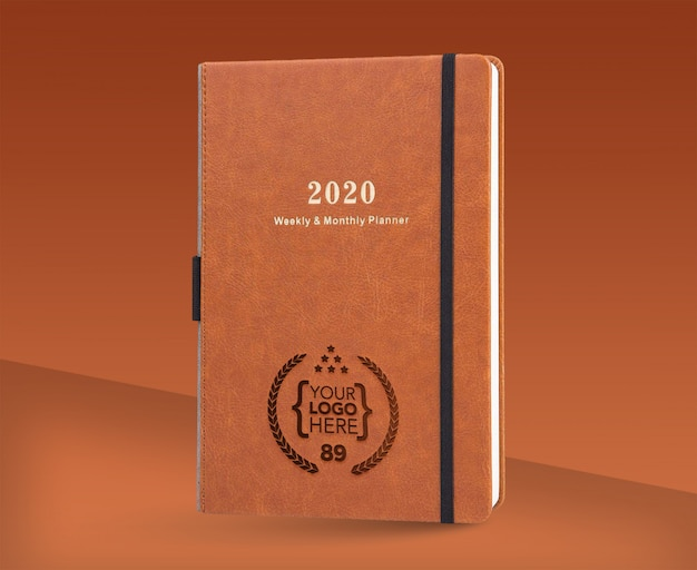Logo Mock Up Presentation With Notebook 2020 Premium Psd