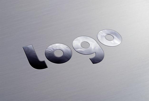 Logo stylowy metaliczny psd szablon Darmowe Psd