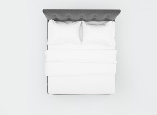 Łóżko Z Białą Pościelą Darmowe Psd