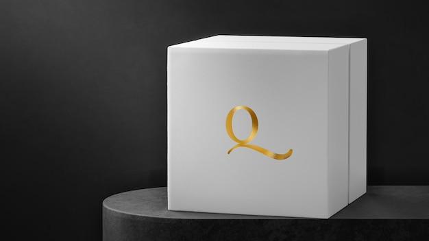 Luksusowe Pudełko Na Zegarek Z Białą Biżuterią Z Logo Makiety Premium Psd