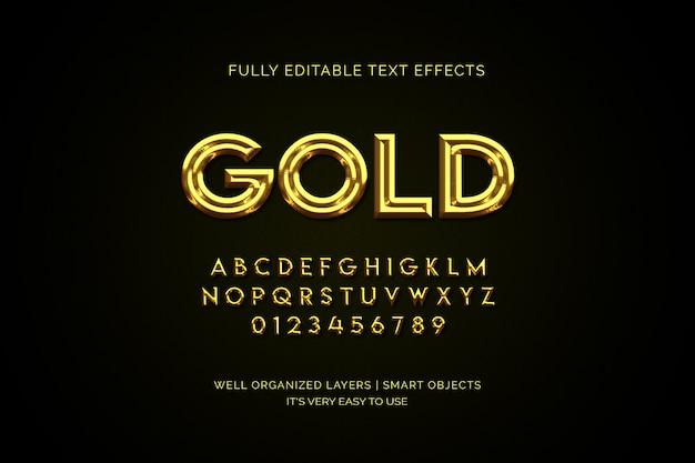 Luksusowy efekt złotej warstwy tekstowej Premium Psd