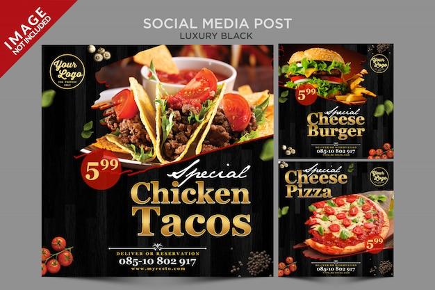 Luksusowy Post W Mediach Społecznościowych Premium Psd