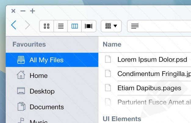 Mac zestaw aplikacji dla ios7 ui Darmowe Psd