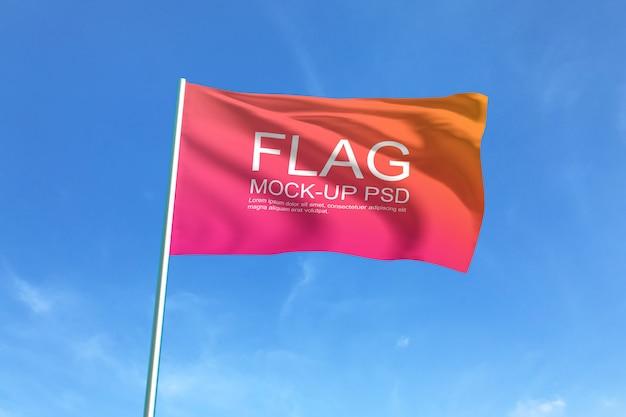 Macha Flagą Makiety Premium Psd