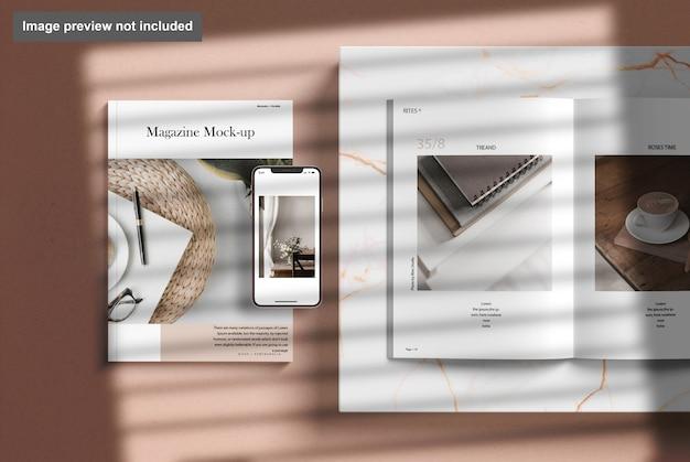 Magazyn Z Makietą Telefonu Premium Psd