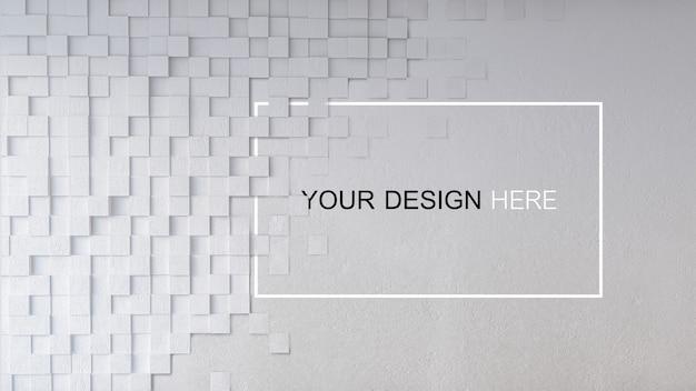 Makieta 3d Renderowania Obrazu Z Betonową ścianą Premium Psd
