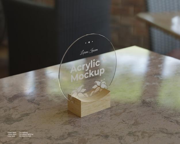 Makieta Akrylowe Uchwyty Znaków W Kształcie Koła Premium Psd