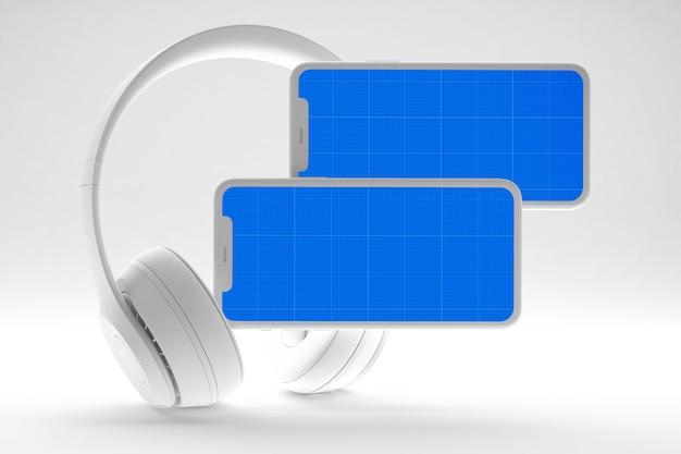 Makieta Aplikacji Clean Music Music Premium Psd