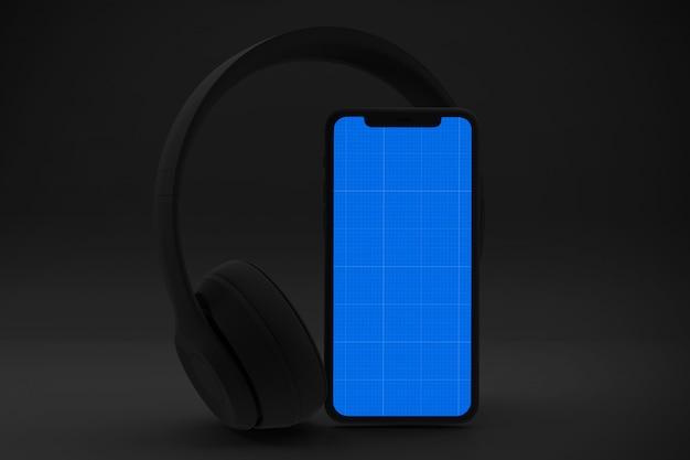 Makieta Aplikacji Dark Mobile Music Premium Psd