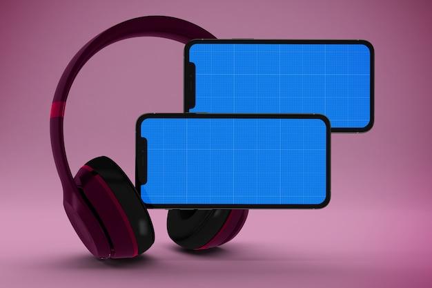 Makieta Aplikacji Mobilnej Muzyki Premium Psd