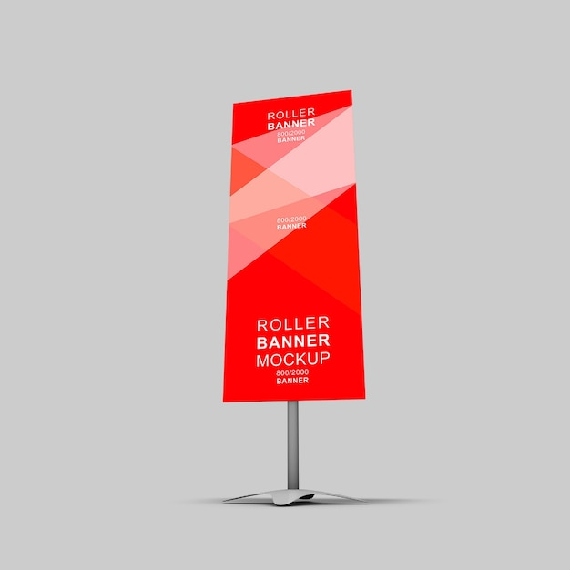 Makieta Banera Rollup 3d Premium Psd