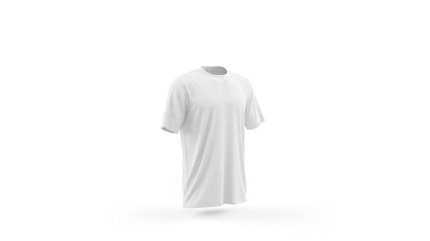 Makieta Biały T-shirt Szablon Na Białym Tle, Widok Z Przodu Darmowe Psd