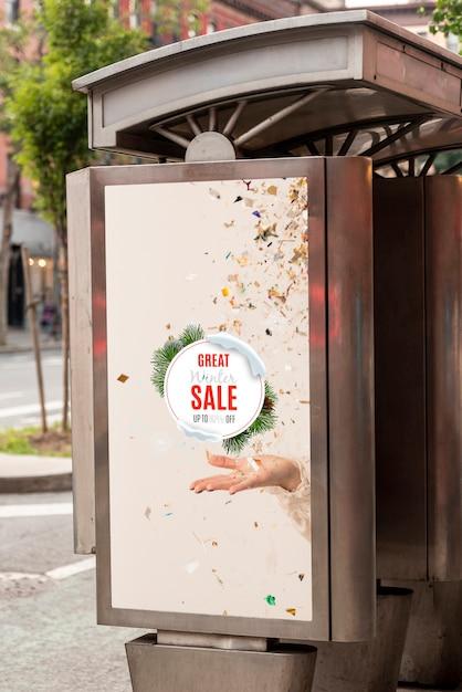 Makieta billboardu ze sprzedażą Darmowe Psd
