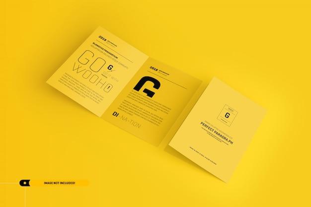 Makieta broszury bifold Premium Psd