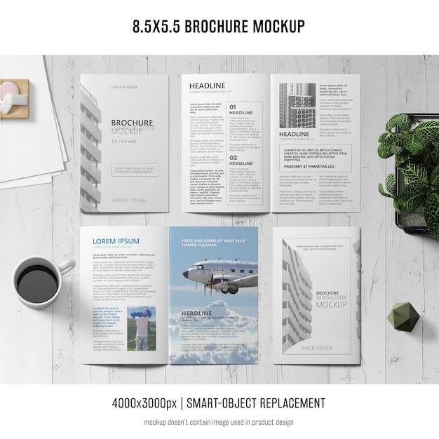 Makieta broszury portretowej Darmowe Psd