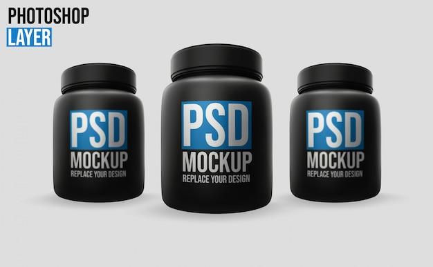 Makieta Butelki Białka Serwatki Premium Psd