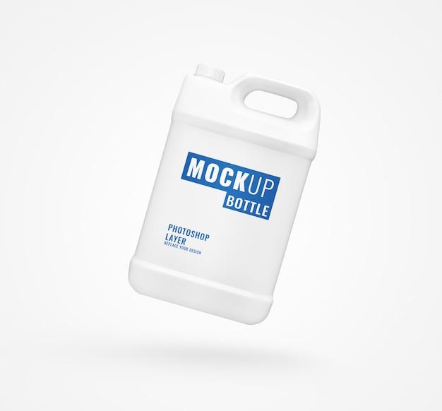 Makieta Butelki Biały Galon Premium Psd