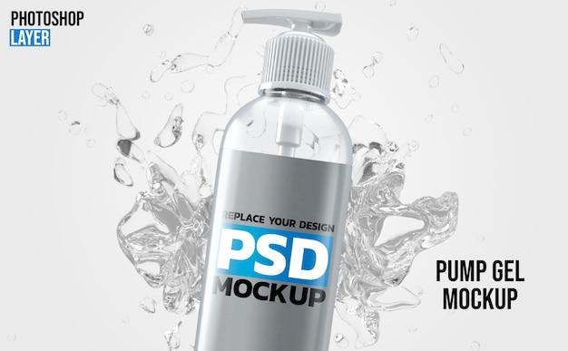 Makieta Butelki Z Mydłem Premium Psd