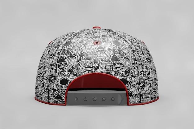 Makieta czapki z daszkiem backview Darmowe Psd