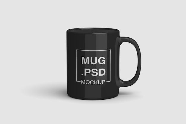 Makieta Czarnego Kubka Premium Psd