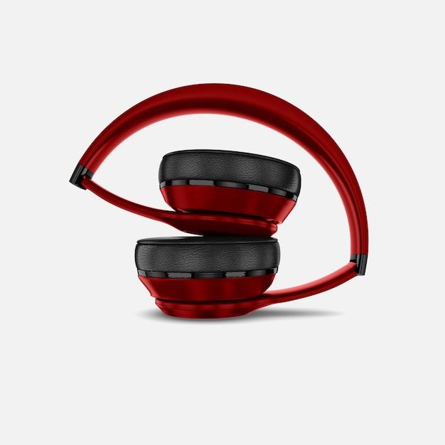 Makieta Czerwonych Słuchawek Premium Psd