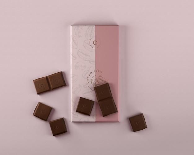 Makieta do owijania czekoladą papierową Darmowe Psd