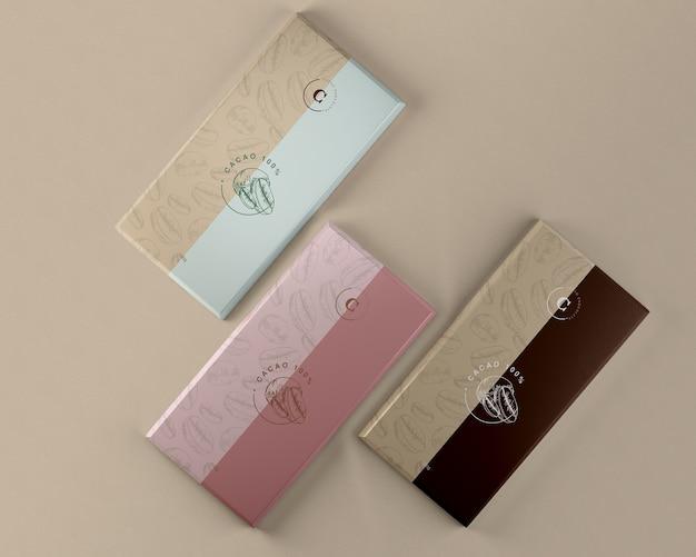 Makieta do pakowania tabletek czekoladowych Darmowe Psd