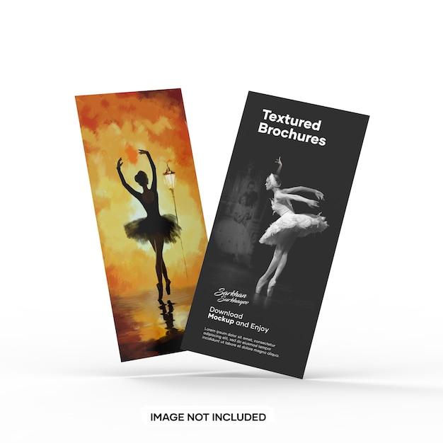 Makieta Dwóch Teksturowanych Broszur Premium Psd