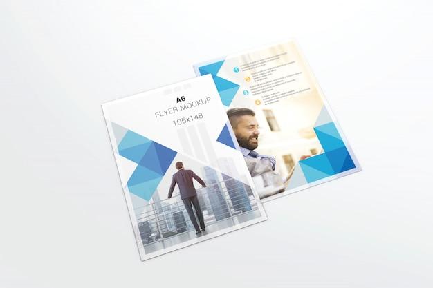 Makieta dwóch ulotek Premium Psd