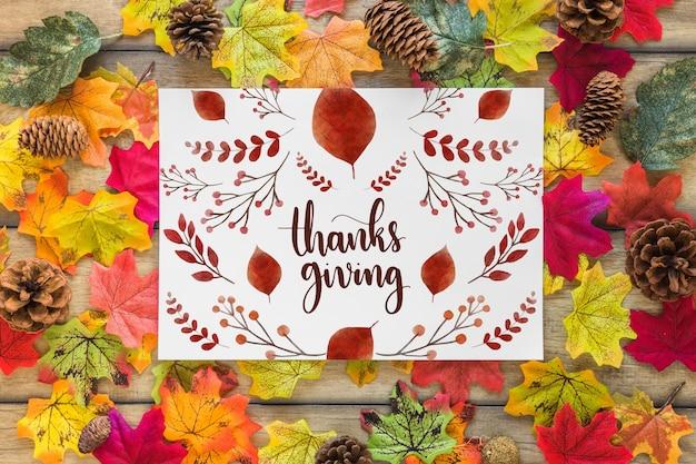 Makieta dziękczynienia z okładki lub papieru Darmowe Psd