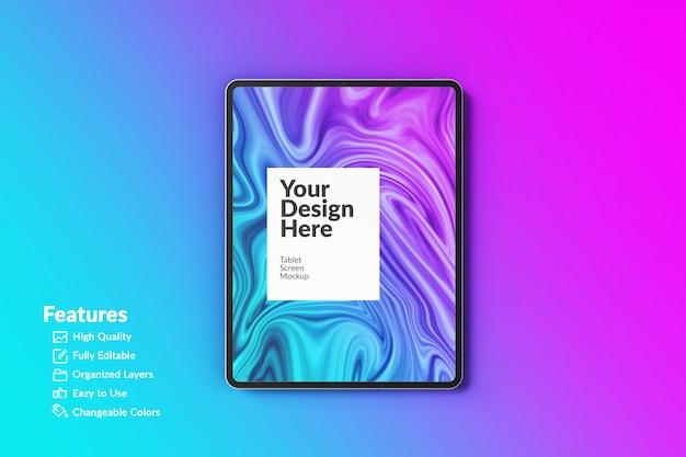 Makieta Edytowalnego Ekranu Tabletu Z Urządzeniem Cyfrowym Premium Psd