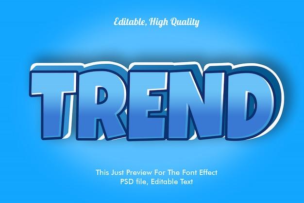 Makieta efekt czcionki trendu Premium Psd