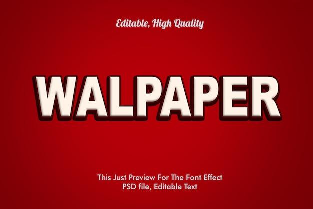 Makieta Efekt Czcionki Walpaper Premium Psd