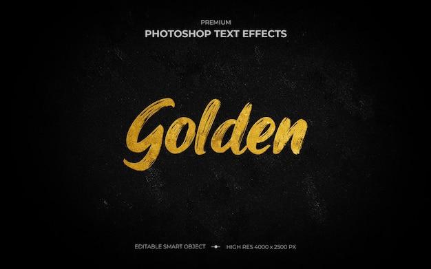 Makieta Efektu Złotego Pędzla Premium Psd