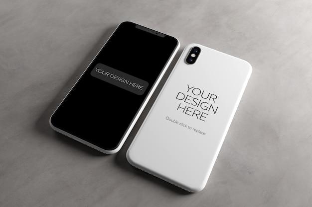 Makieta ekranu i obudowy telefonu komórkowego Premium Psd
