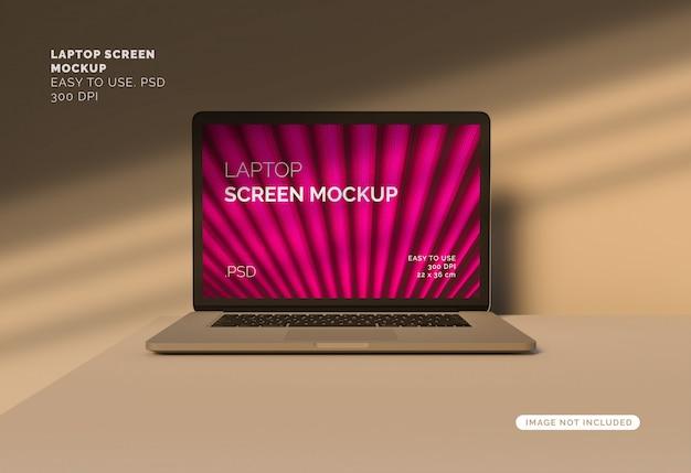 Makieta Ekranu Laptopa Z Ponad Cień Premium Psd