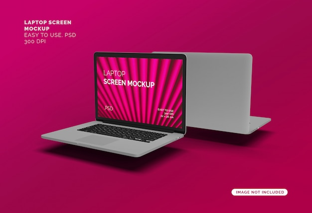 Makieta Ekranu Laptopa Premium Psd