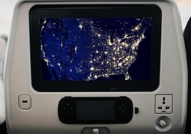 Makieta ekranu samolotu z gniazdka Darmowe Psd