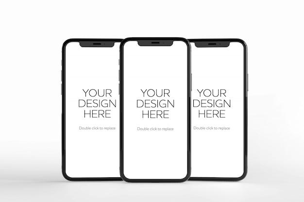 Makieta Ekranu Smartfona, Widok Z Przodu Premium Psd