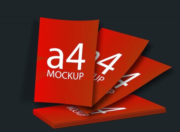 Makieta Formatu A4 Premium Psd