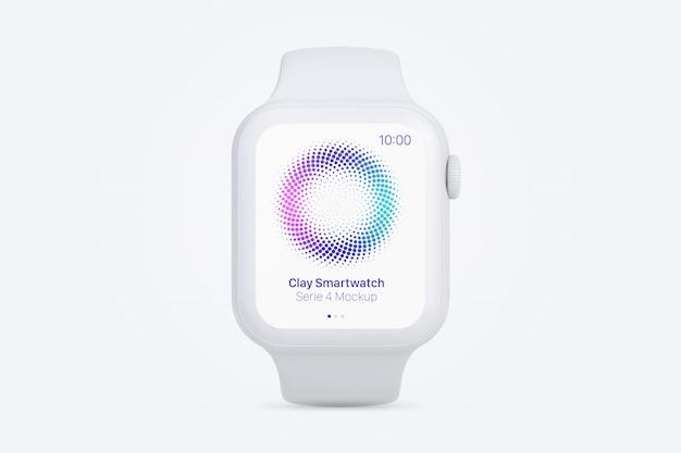 Makieta Gliny Smartwatch, Widok Z Przodu Premium Psd